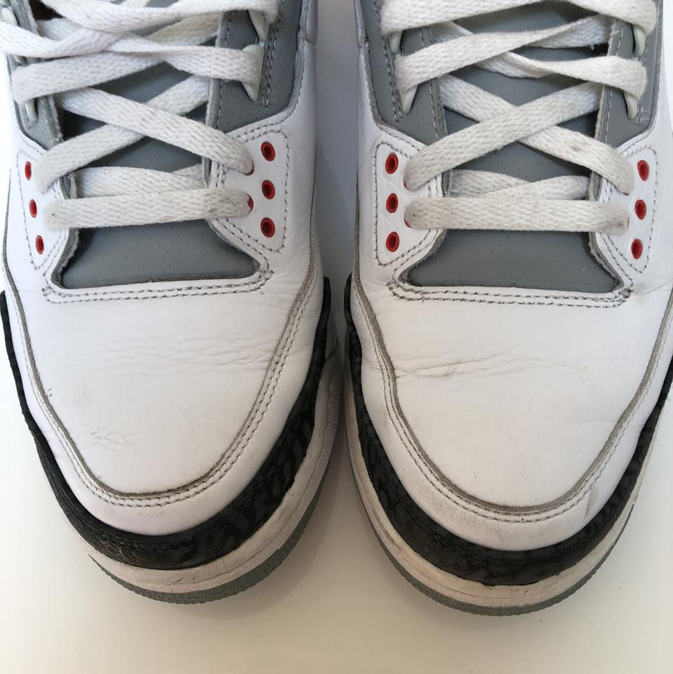 Air Jordan Fire Red White Cement Black 3 Retro (2007) Sneakers Size ... 2249a7112