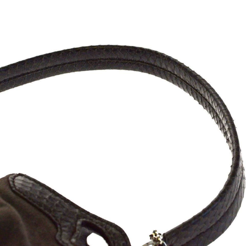 2b0be5462ba4 Cartier Marcello Brown Suede Skin Leather Python Skin Leather ...