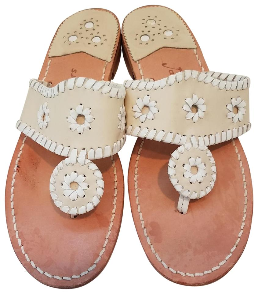 b117cc1e7 Jack Rogers Bone White Palm Beach Sandals Size US 8 Regular (M
