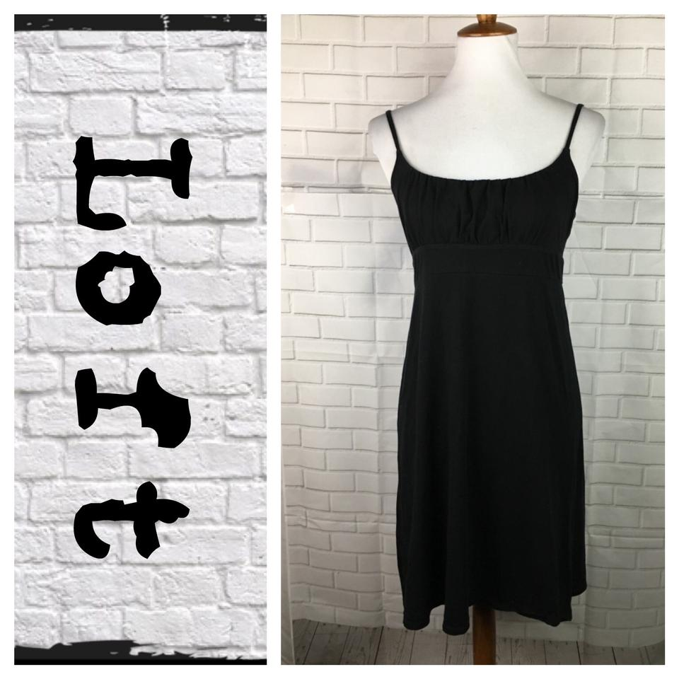 3fae15954ec Ann Taylor LOFT Black Sun Mid-length Short Casual Dress Size 6 (S ...