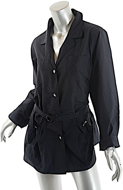 Item - Black Cotton Blend Water Resistant Belted With Jacket Size 12 (L)