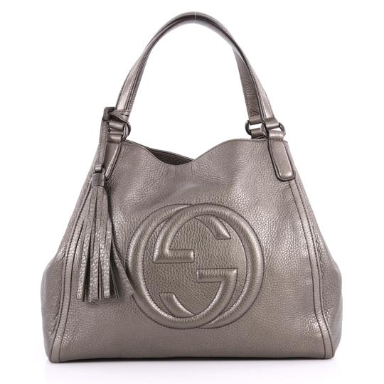 c7c73b8c256 23748596 282309 3226201. gucci soho medium gray metallic leather shoulder  bag 56% off retail. TRADESY