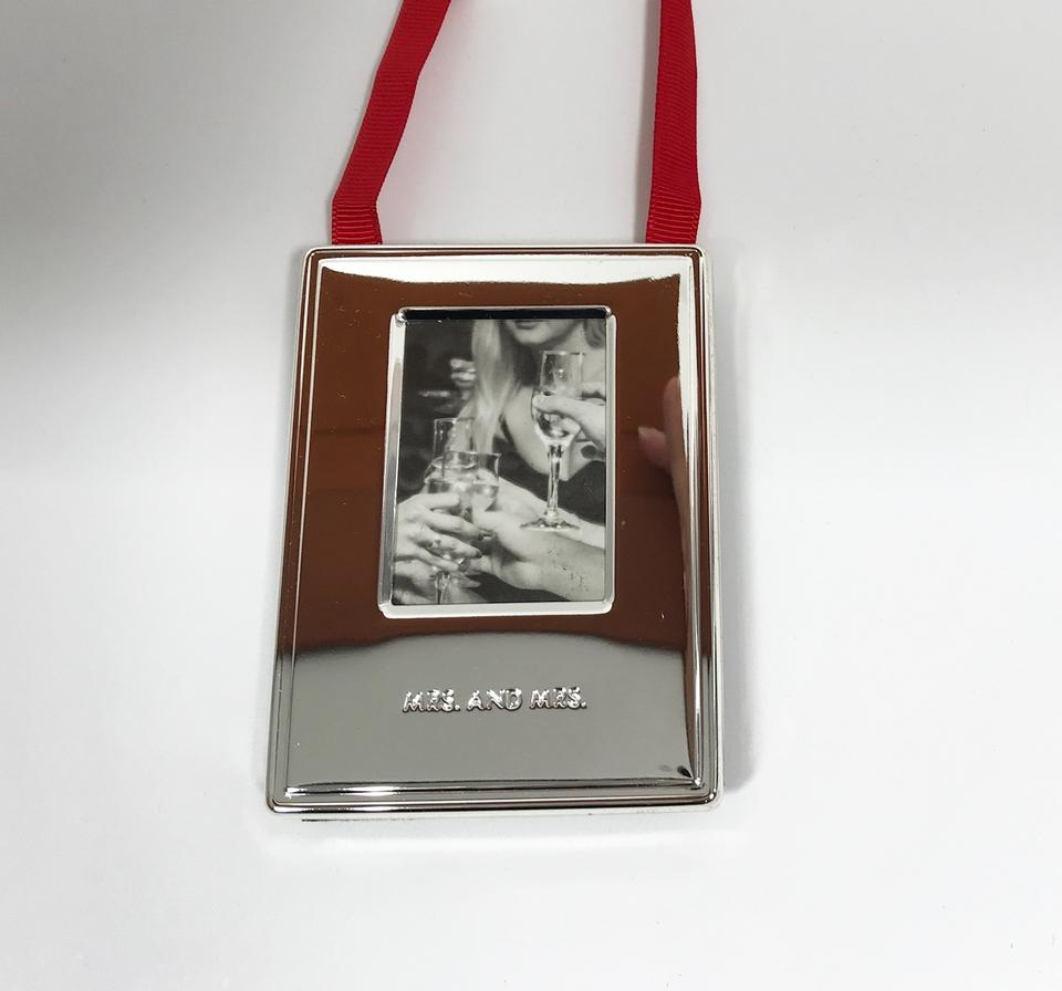 Kate Spade Silver Darling Point Mrs Mrs Ornament Picture Photo