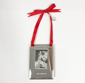 Kate Spade Silver Darling Point Mrs. & Mrs. Ornament Picture Photo Frame