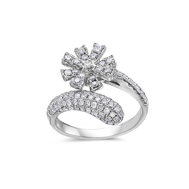 Ladies 18k White Gold with 1.11 Ct Right Hand Ring Ladies 18k White Gold with 1.11 Ct Right Hand Ring Image 1