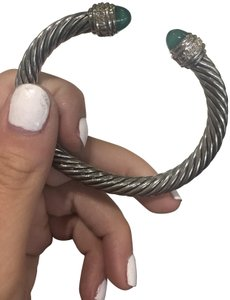 David Yurman David Yurman 7mm Green Onyx Bracelet with Diamonds