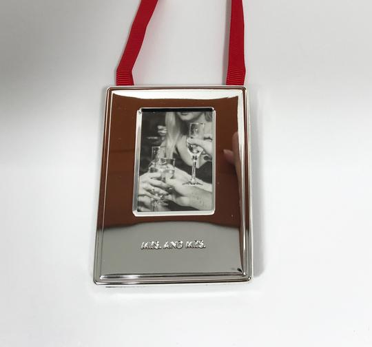Kate Spade Silver Darling Point Mrs. & Mrs. Ornament Picture Photo Frame Image 3