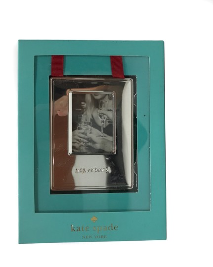 Kate Spade Silver Darling Point Mrs. & Mrs. Ornament Picture Photo Frame Image 4