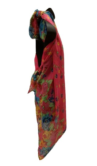 1c61ff8d15 80%OFF Multi Floral Bright Print Challis Scarf Multi Function Skirt Top  Dress 66%