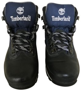Timberland Leather Black & Blue Boots