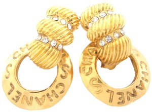 Chanel Chanel very vintage 3 row Crystal dangle clips earrings