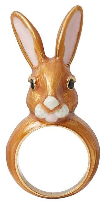 Item - Brown 12k Gold Plated Desert Muse Bunny Rabbit Size 6 Ring