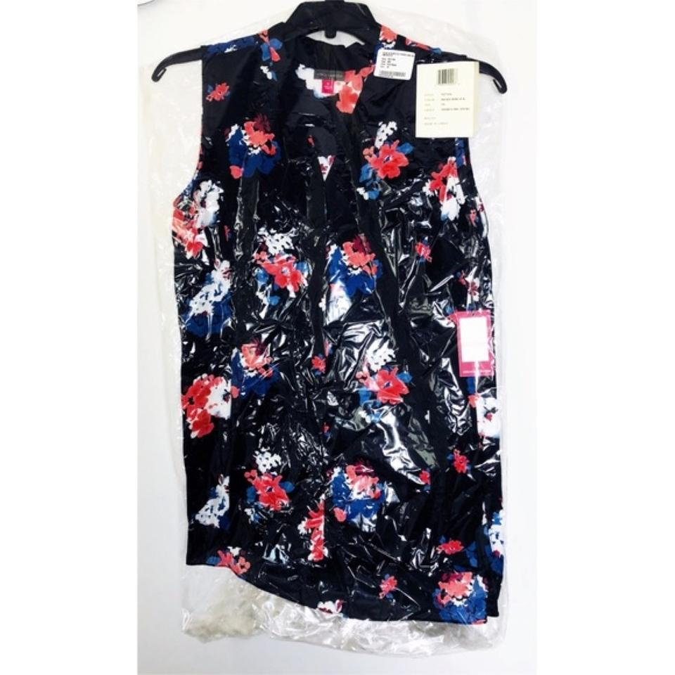 Sleeveless Travleing Camuto Blouse Blooms Vince Black gz6Tnx