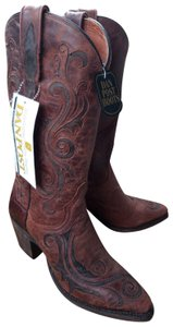 Dan Post Boots Cowboy Distressed Tribal Brown Boots