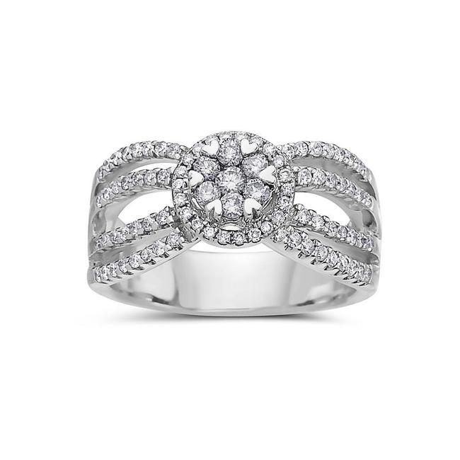 Ladies 14k White Gold with 0.81 Ct Right Hand Ring Ladies 14k White Gold with 0.81 Ct Right Hand Ring Image 1