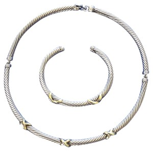 David Yurman Cable classic necklace and bracelet