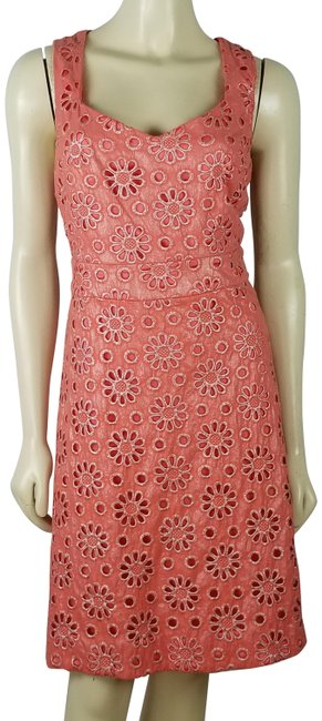 Item - Peach Silver Maeve Eyelet Colored Empire Waist Summer Cotton Short Casual Dress Size 8 (M)