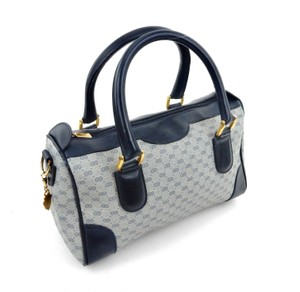 Gucci Monogram Italy Vintage Tote in Blue