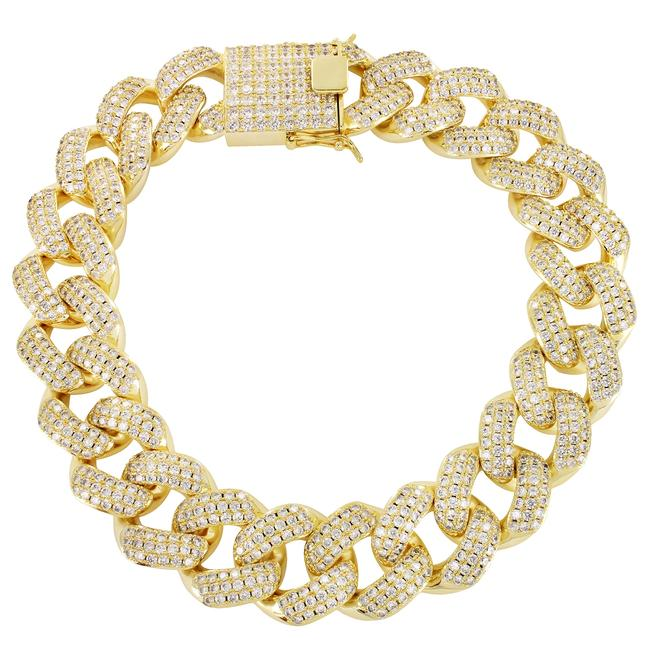 Master Of Bling Men's Hip Hop Iced Out 30mm 20in Cuban Choker Necklace Master Of Bling Men's Hip Hop Iced Out 30mm 20in Cuban Choker Necklace Image 1