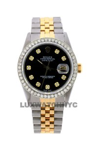 Rolex 1.6ct 36mm Men's Datejust 2-tone W/ Box & Appraisal Watch