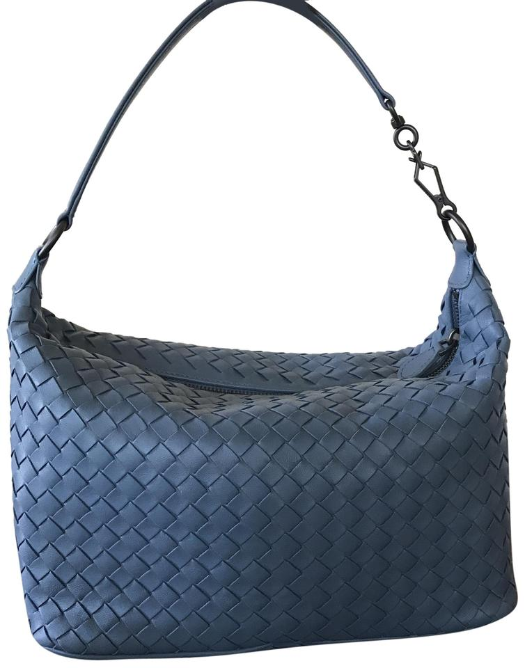 ef6c5f59ab Bottega Veneta Small East-west Zip Hobo Blue Rw Leather Shoulder Bag ...