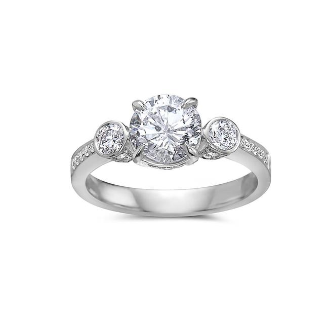 Ladies 18k White Gold with 2.23 Ct Engagement Ring Ladies 18k White Gold with 2.23 Ct Engagement Ring Image 1
