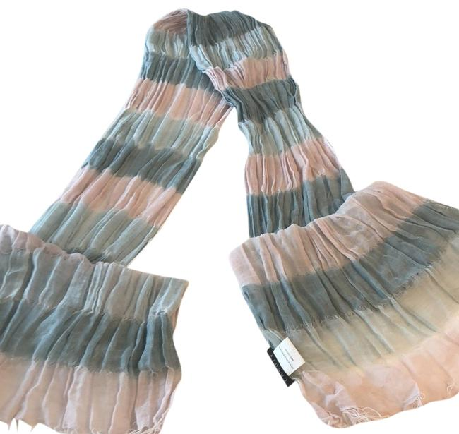 Theory Pink and Blue Silk Scarf/Wrap Theory Pink and Blue Silk Scarf/Wrap Image 1