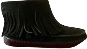 Tory Burch Black Suede Fringed Warm Soft CLEARANCE-New-In-Box!! Boots