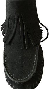 Tory Burch Black Suede Fringed Warm Soft Jet Black--New-In-Box!! Boots