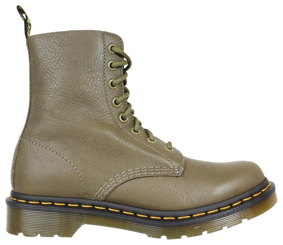 1f50e402c2f3 Dr. Martens Green Pascal Virginia 8-eye Lace-up Combat Boots Booties ...