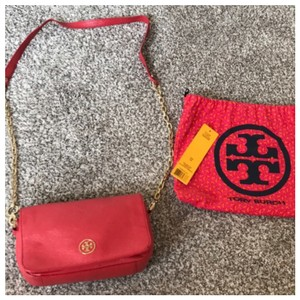 Tory Burch Gold Shoulder Cross Body Bag