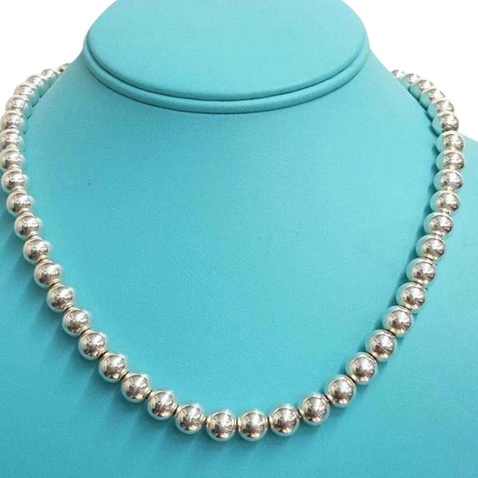 "d72bef35a Tiffany & Co. Graduated Bead Sterling Silver 16"" Guaranteed Necklace ..."