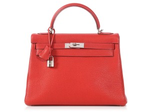 Hermès Palladium Hr.p0619.05 Vermilion Reduced Price Satchel in Red