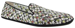 Bottega Veneta Women Green/Red Leather Floral Green/Red Flats