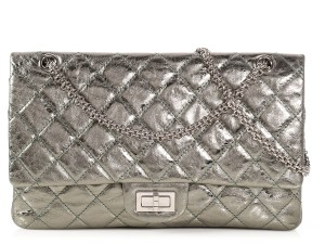 Chanel Silver Metallic 227 Ch.p0612.09 Reduced Price Shoulder Bag