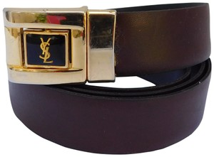 Saint Laurent VINTAGE YVES SAINT LAURENT NAVY BLUE BELT 32