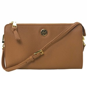 1962726f1 Tory Burch Clutch Pebbled Wallet / Brown Leather Cross Body Bag ...