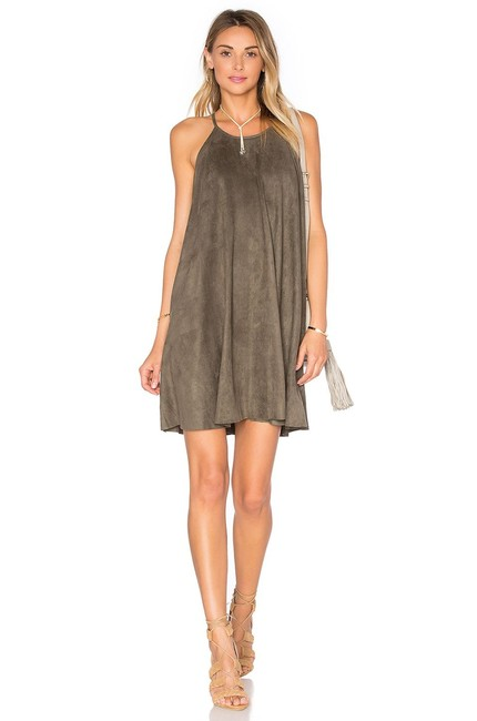 Preload https://img-static.tradesy.com/item/23751049/bishop-young-olive-suede-high-neck-shift-short-night-out-dress-size-8-m-0-0-650-650.jpg