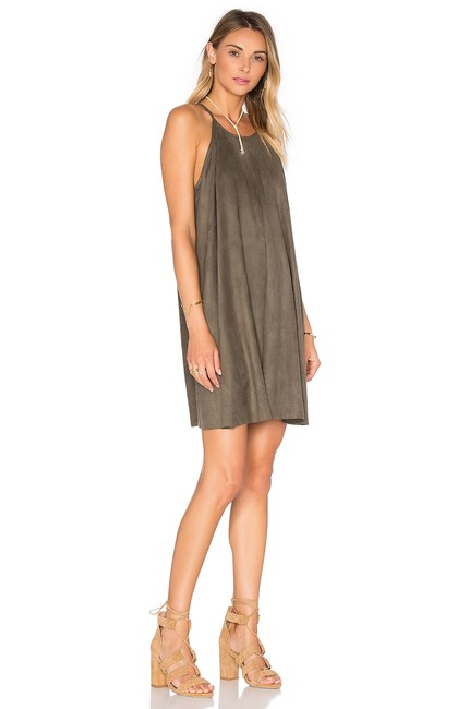 Bishop + Young Suede Shift Flowy Dress Image 1