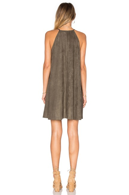 Bishop + Young Suede Shift Flowy Dress Image 2