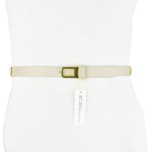 BCBGeneration Gray Gold Faux Leather Belt