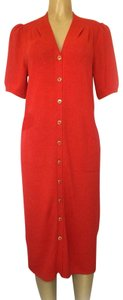 St. John short dress red Knit Sweater Button Down Short Sleeve on Tradesy