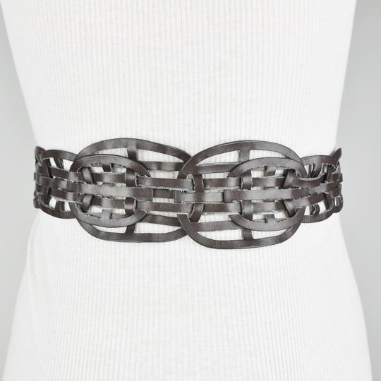 BCBGMAXAZRIA Brown Bohemian Plaited Weave Belt Size Small Image 2