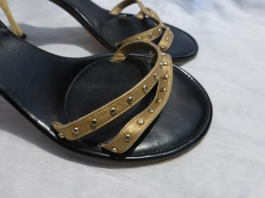 CHANEL GOLD; BLACK Mules Image 2