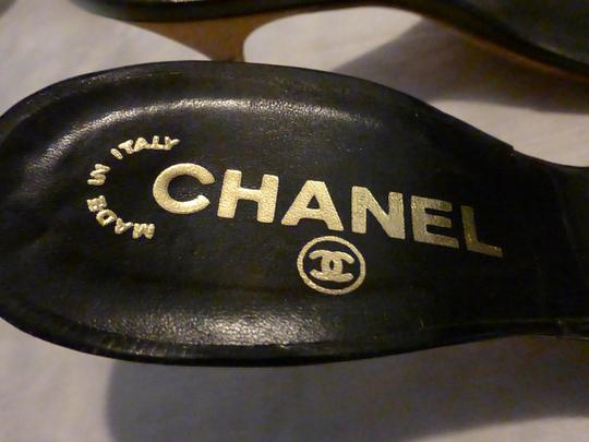 CHANEL GOLD; BLACK Mules Image 4