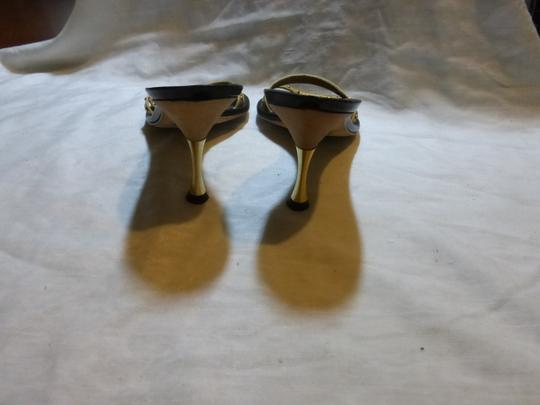 CHANEL GOLD; BLACK Mules Image 6