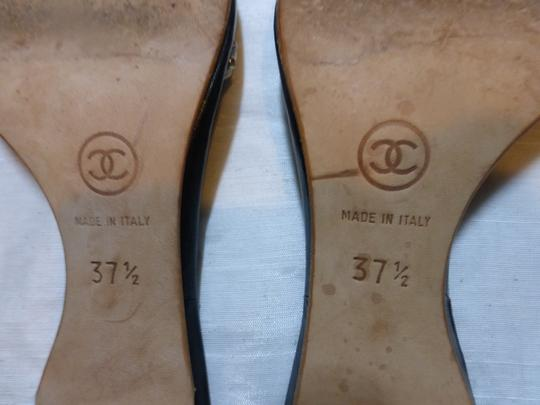 CHANEL GOLD; BLACK Mules Image 9