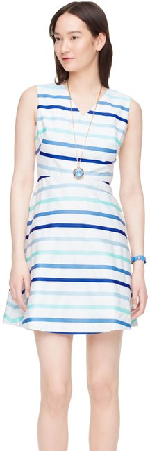 Preload https://img-static.tradesy.com/item/23751313/kate-spade-blue-ombre-stripe-a-line-v-neck-with-bow-back-short-casual-dress-size-8-m-0-1-650-650.jpg