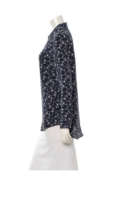 Equipment Button Down Shirt Navy and white Image 1
