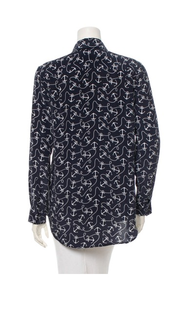 Equipment Button Down Shirt Navy and white Image 2